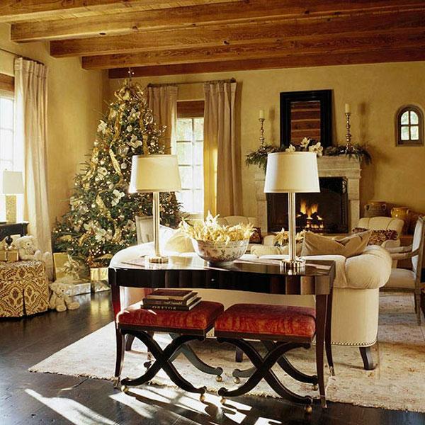 weihnachtsdeko ideen rustikales zimmer - Weihnachtsdeko Ideen