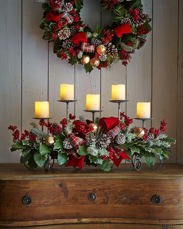 weihnachtsdeko-ideen-schöne-kerzen