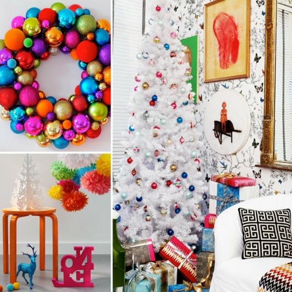 weihnachtsdeko-ideen-sehr-schöne-bunte-farben