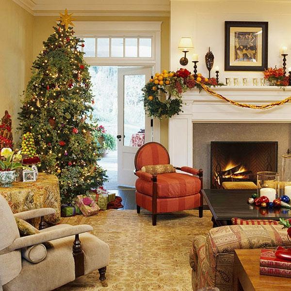 Weihnachtsdeko ideen für den kamin versetzen sie in ...