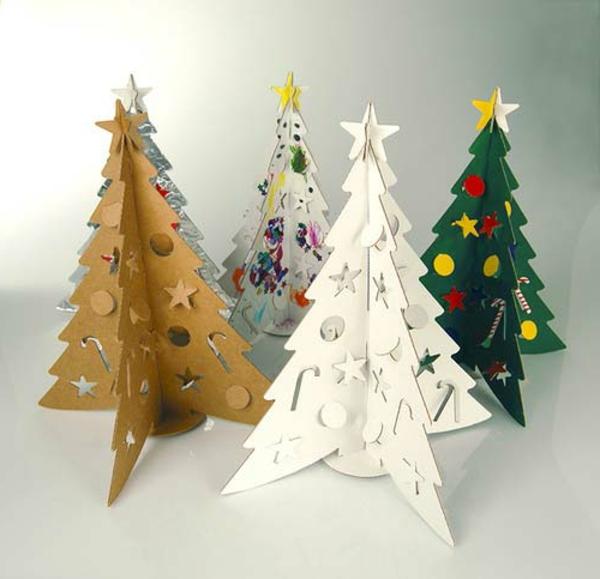 weihnachtsdeko-ideen-vier-tannenbäume