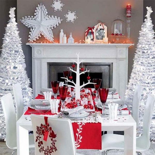 Weihnachtsdeko weiss