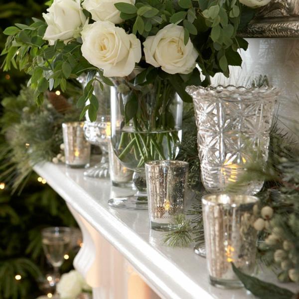 weihnachtsdeko-ideen-weiße-rosen