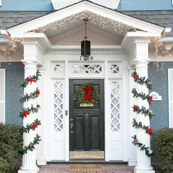 weihnachtsdeko-ideen-weiße-säule