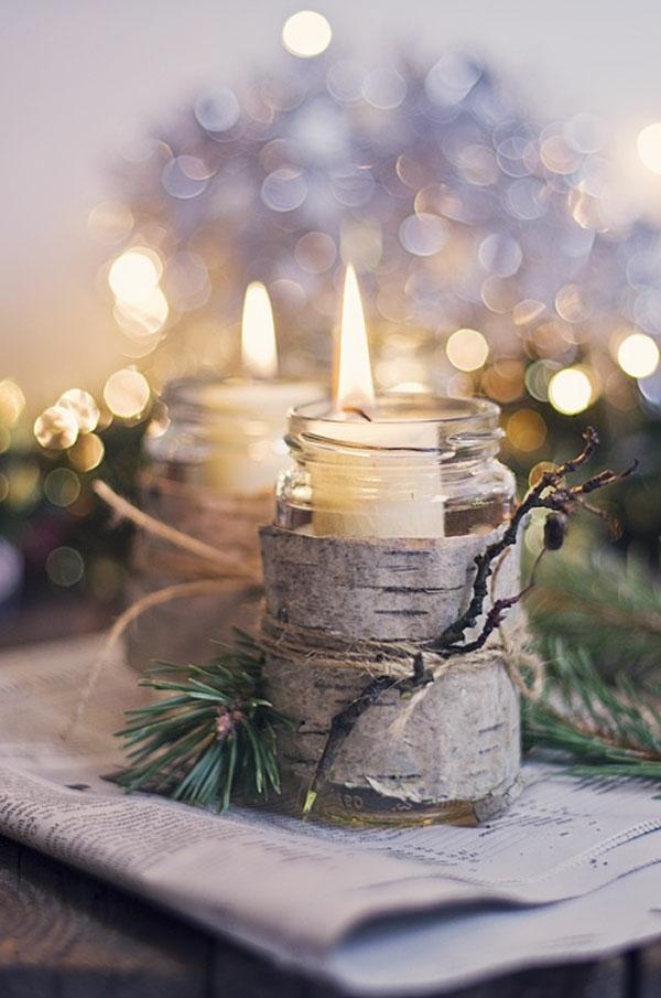 75 unglaubliche weihnachtsdeko ideen - Kerzen deko ideen ...