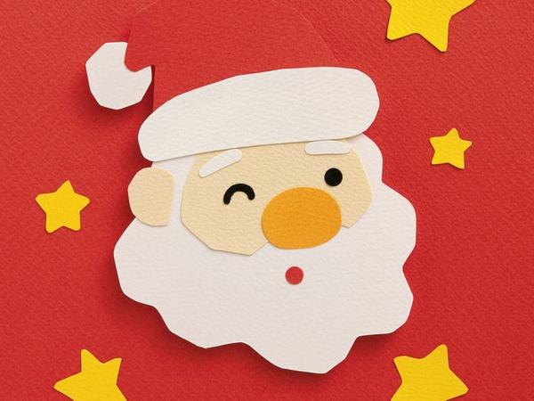 Weihnachtsmann basteln 25 coole ideen for Fensterdeko weihnachten basteln papier