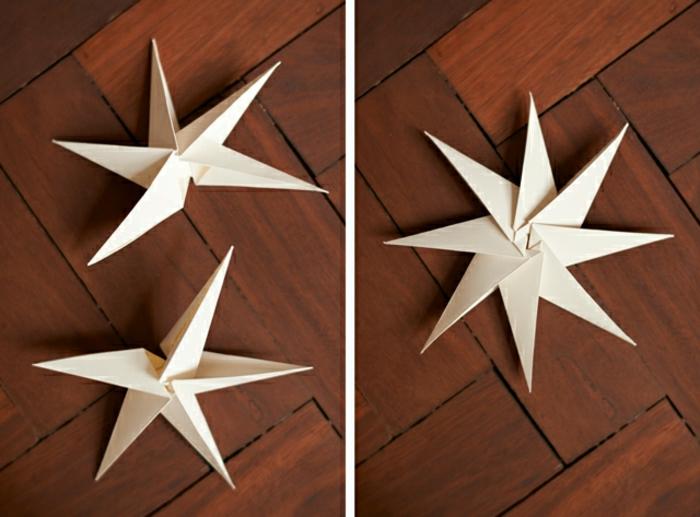 weihnachtssterne selber machen origami anleitung acht teile zusammensetzten origami anleitung schritt sieben