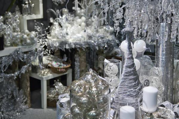 weiße weihnachtsdeko-sehr schönes bild