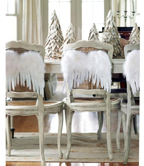 weiße weihnachtsdeko - interessante engelflügel