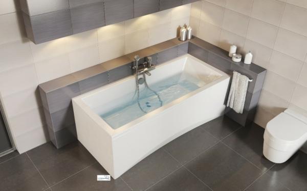 wunderschöne-badewannen-mit-schürze - moderne bad gestaltung