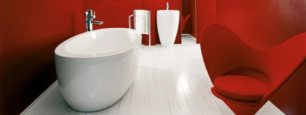 wunderschöne-luxuriöse-badewannen-mit-schürze - im roten schicken badezimmer