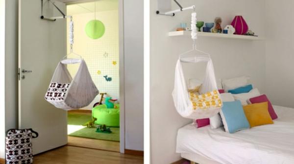 zwei-bilder-von-baby-hängematte