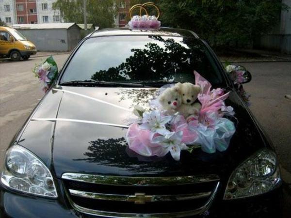kreative auto-dekoration zur hochzeit
