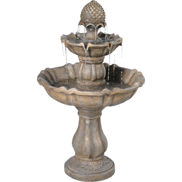 wunderschönes design vom springbrunnen - weißer hintergrund