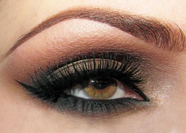 smokey eye schminken für braune augen