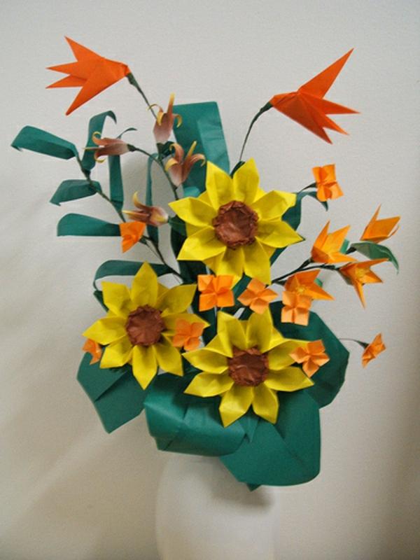 origami-blumen-vase