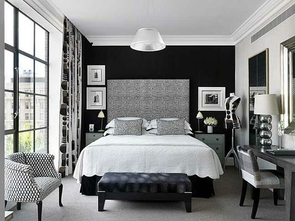 Schlafzimmer Inspiration   Glaswand Neben Einem Modernen Bett