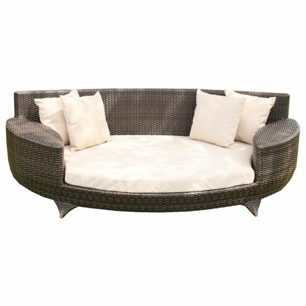weiße rattan couch für draußen - weißer hintergrund