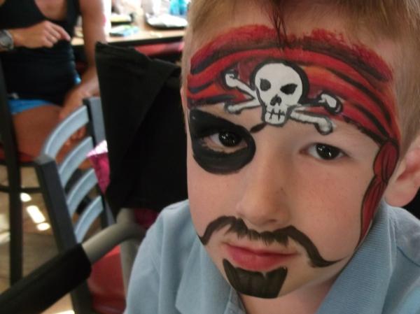 super cooles piratschminken für jungen - super schönes bild