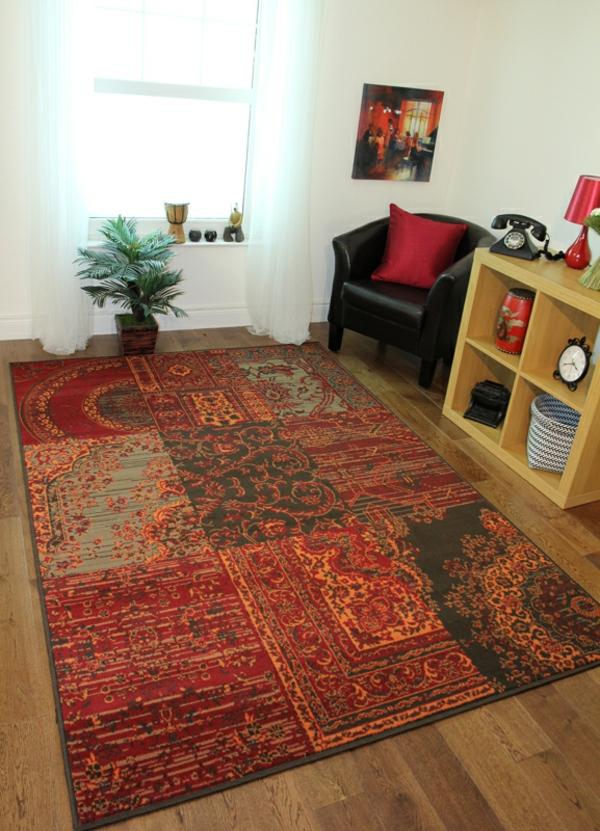 orientalischer-teppich-in-rot