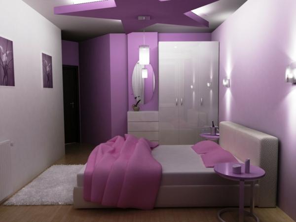 Das Lila Schlafzimmer Fällt Gleich Ins Auge! - Archzine.net Schlafzimmer Farben Lila