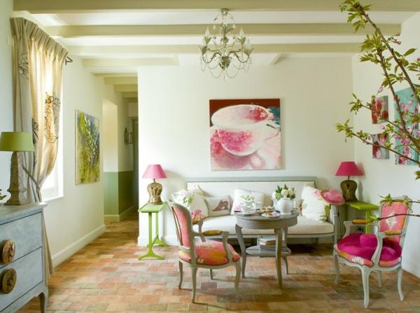 design : wohnzimmer grün pink ~ inspirierende bilder von ... - Wohnzimmer Deko Grun