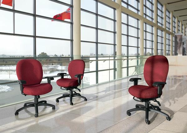 Büromöbel-Schreibtischstühle-mit-modernem-Design-in-roter-Farbe