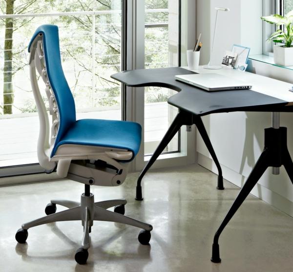 Bürostühle-in-Blau--mit-schönem-Design-Interior-Design-Ideen
