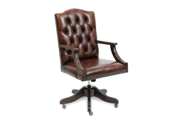 Bürostühle-mit-schönem-Design-Interior-Design-Ideen-Leder-Braun