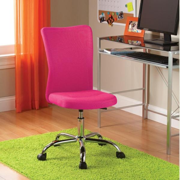 Bürostühle-mit-schönem-Design-Interior-Design-Ideen-Schreibtischstuhl-in-Rosa