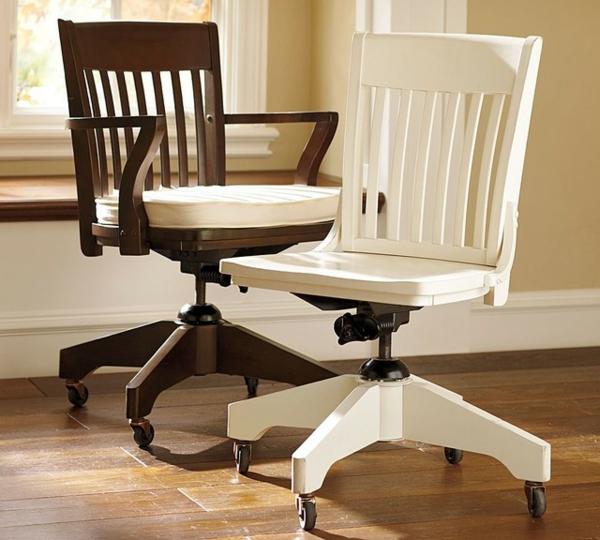 Bürostühle-mit-schönem-Design-Interior-Design-Ideen-in-Schwarz-und-Weiß