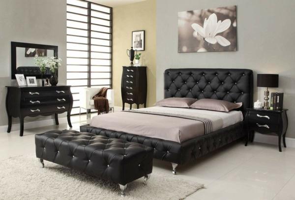 Schlafzimmer Mit Schwarzem Bett ~ Wohndesign und Innenraum Ideen