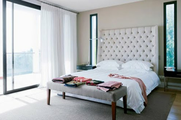 zimmer inspiration - glaswand und weiße vorhänge