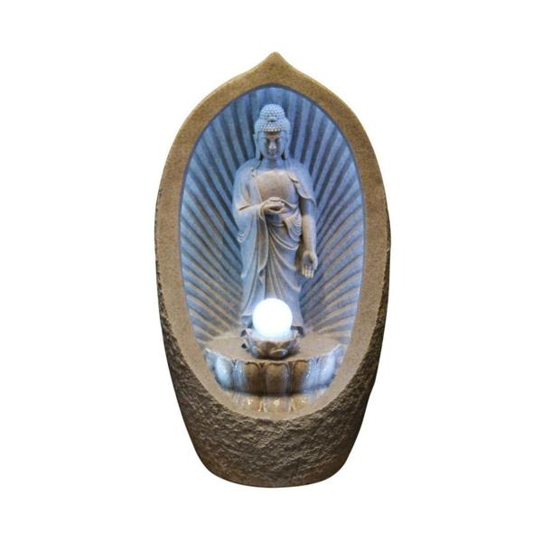 Buddha-Brunnen-mit-blauem-licht