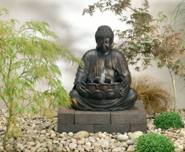 buddha brunnen 50 inspirierende fotos. Black Bedroom Furniture Sets. Home Design Ideas