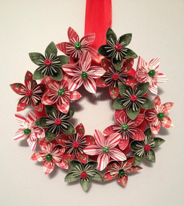 Christmas-Origami-ornament-flower-Decoration
