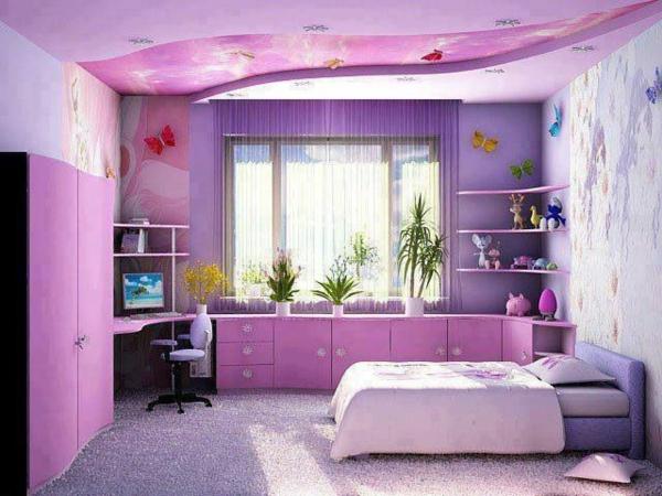 Tapeten Kinderzimmer Lila : lila kinderzimmer mit vielen schr?nken