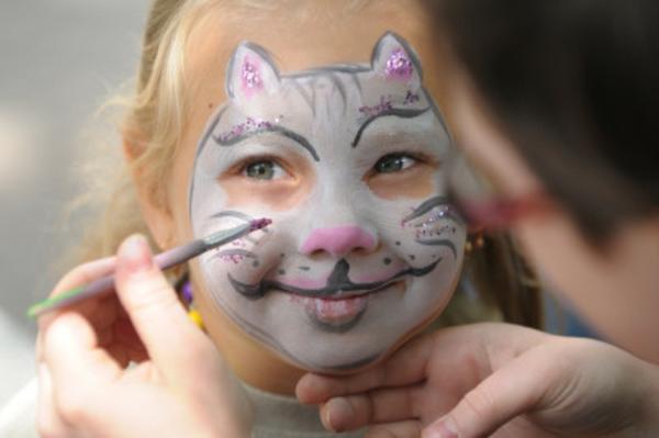 katzeschminken - interessante idee für face painting - cooles foto
