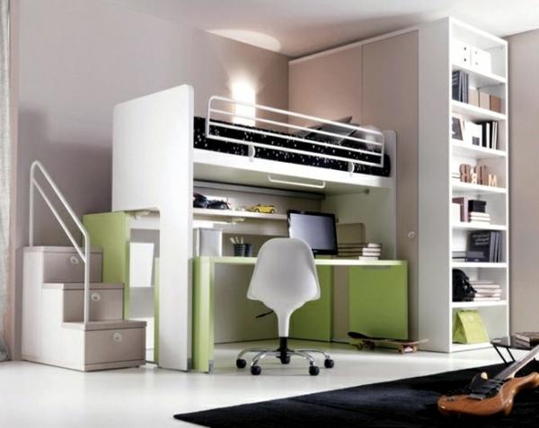 Design-Ideen-Hochbett-mit-einem-Schreibtisch-in.-Weiß