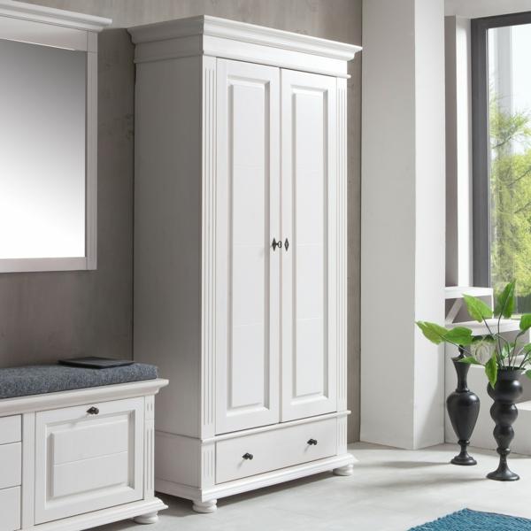-Dielenschrank-Leona-Weiß-klassisches-Design
