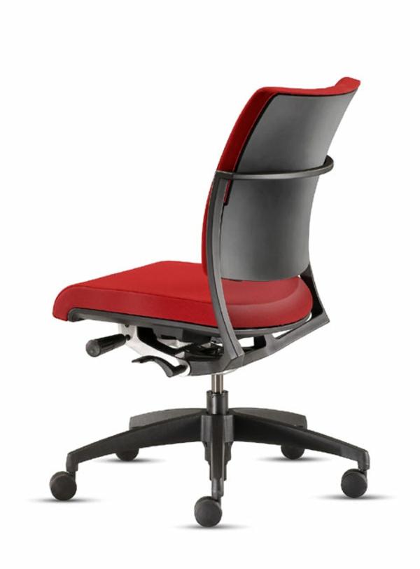 Drehstuhl-in-schöner-Farbe-Büromöbel-Rot Bürostuhl