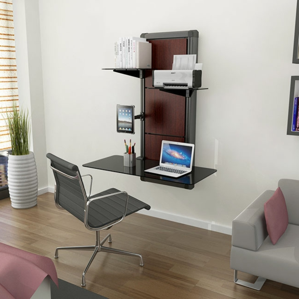 Einrichtungsideen-Büro-Schreibtisch-Holz-modernes-Design