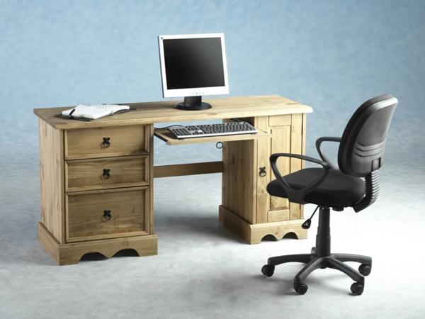 -Einrichtungsideen-Büro-Schreibtisch-Holz-modernes-Design