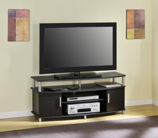 Fernsehschrank-aus-Holz-effektvolles-Design-Einrichtungsideen-für-das-Wohnzimmer