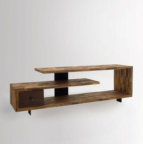 Fernsehtisch 22 super effektvolle modelle - Table de television ...