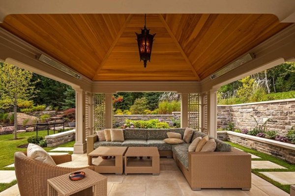 Holz Pavillon Mit Seitenteilen ~ Gartenpavillion – Faszination für einen noch edleren Garten