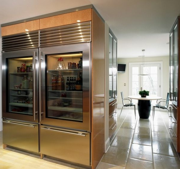 Giant-glas-front-refrigerator-offers-ample-storage-space