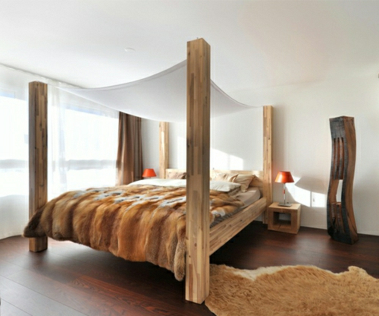 Holzmöbel design  Himmelbett aus Holz die Spektakulärsten Ideen - Archzine.net