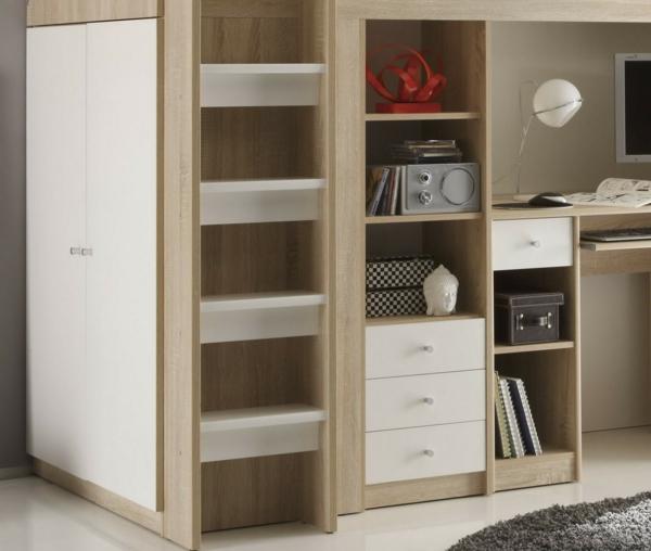 ikea hochbett mit schreibtisch und schrank. Black Bedroom Furniture Sets. Home Design Ideas