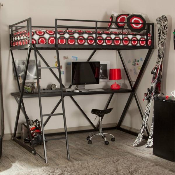 Hochbetten-aus-Metall-mit-super-schönem-Design-Kinderzimmergestaltung